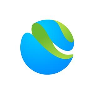 立体圆球矢量logo图标素材下载
