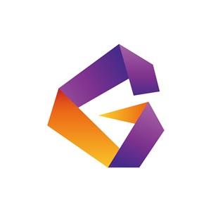 黄色紫色字母G矢量logo素材设计