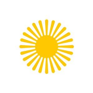 发光的太阳矢量logo素材设计