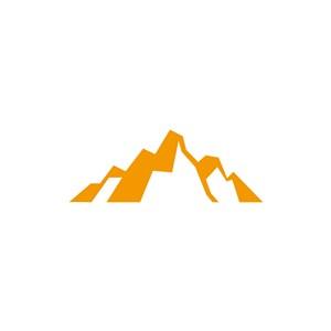 黄色山峰矢量logo设计素材