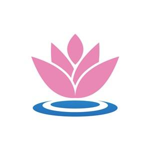 服饰时尚logo设计--荷花logo图标素材下载