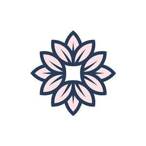 服饰时尚logo设计--花朵logo图标素材下载