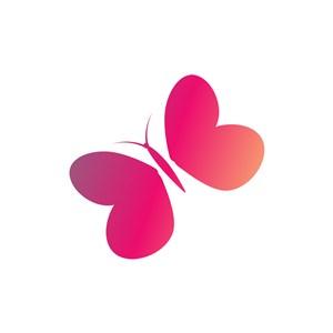 服饰时尚logo设计--粉色蝴蝶logo图标素材下载
