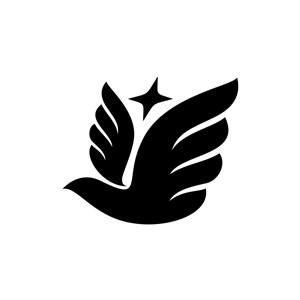 设计传媒logo设计--飞鸟星logo图标素材下载