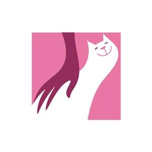 服飾時尚logo設計--笑臉貓logo圖標素材下載