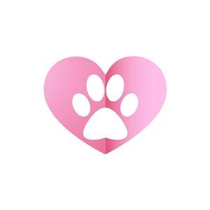 運動休閑logo設計--寵物腳印logo圖標素材下載