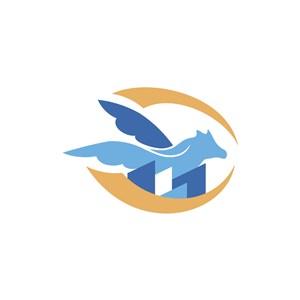 家居地产logo设计--飞马大楼logo图标素材下载