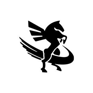 设计传媒logo设计--飞马logo图标素材下载