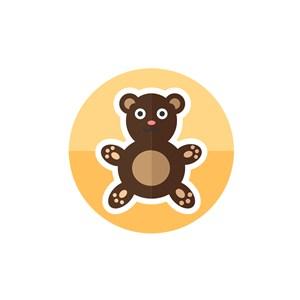 服饰时尚logo设计--玩具熊logo图标素材下载