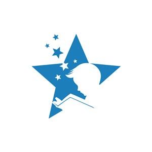 运动休闲logo设计--儿童看书学习logo图标素材下载