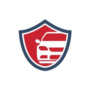 电子机械logo设计--盾形汽车logo图标素材下载