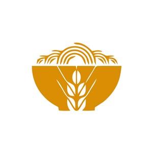 餐饮食品logo设计--小麦面条logo图标素材下载