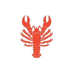 餐饮食品logo设计--大龙虾海鲜logo图标素材下载