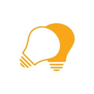 设计传媒logo设计--灯泡logo图标素材下载