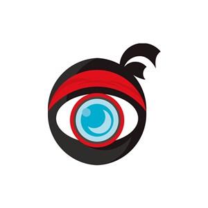 运动休闲logo设计--大眼武士搞怪logo图标素材下载
