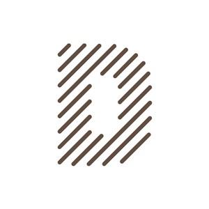 个性英文D字母标志设计素材下载