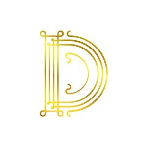 矢量英文D字母标志设计素材下载