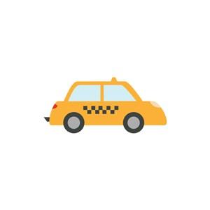 旅游公司logo设计--出租车logo图标素材下载