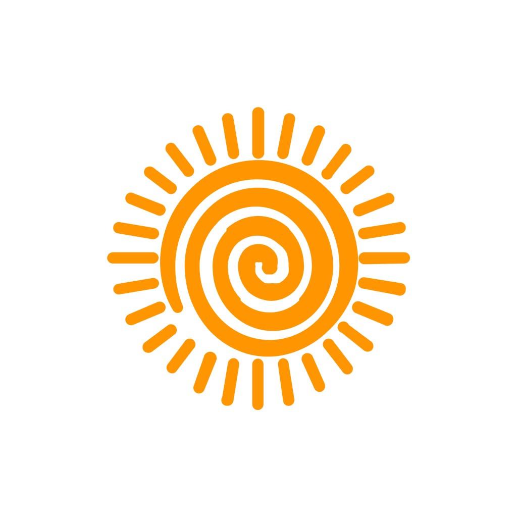 儿童服饰logo设计--太阳logo图标素材下载