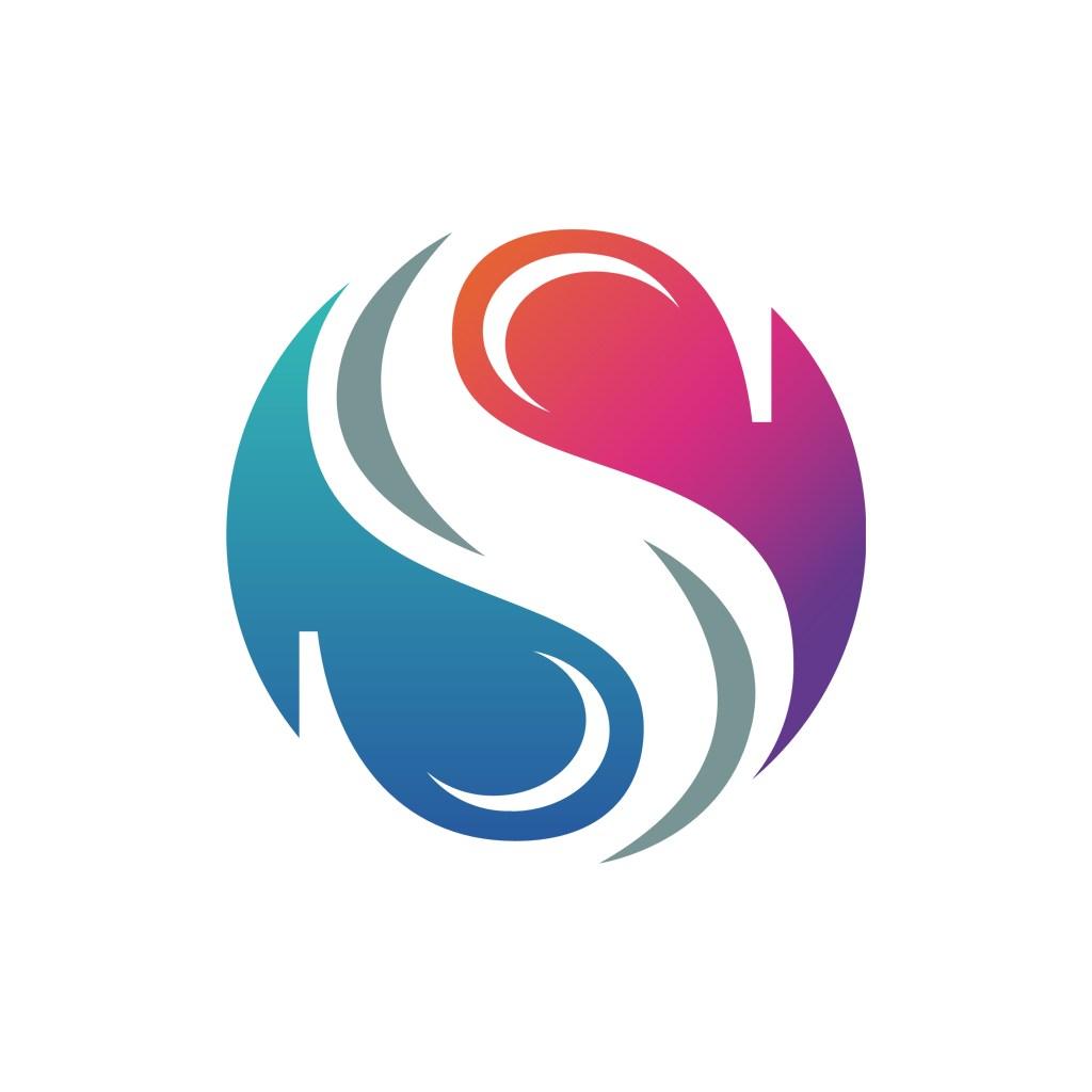 S圆形八卦矢量logo图标素材下载