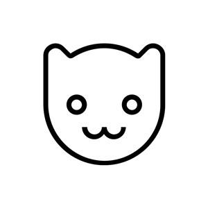 简单猫头像Logo图标