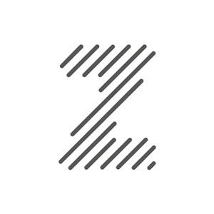 灰色字母Z矢量logo设计素材