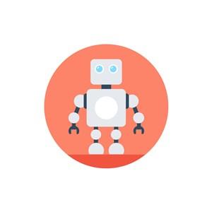 卡通机器人logo设计素材
