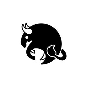 金牛座公牛图案Logo图标素材