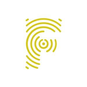 创意黄色字母F矢量logo图标