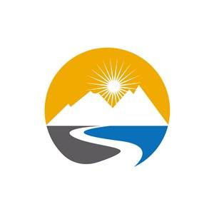 旅游公司logo设计--山logo图标素材下载