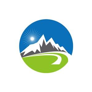 旅游公司logo设计--雪山logo图标素材下载
