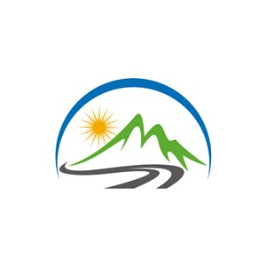 旅游公司logo设计--山峰太阳logo图标素材下载