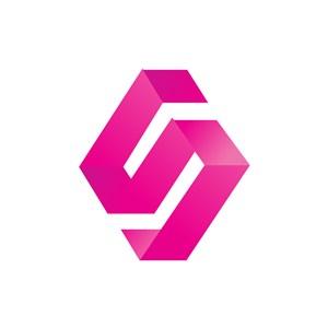个性立体英文S字母标志设计素材下载
