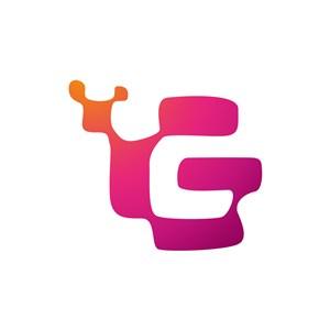 设计公司logo设计--字母G和蜗牛logo图标素材下载