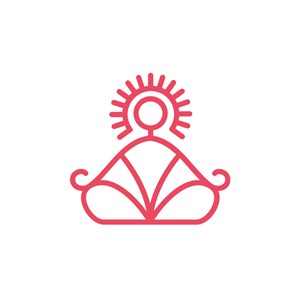 瑜伽运动logo设计--瑜伽打坐logo图标素材下载