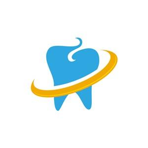 爱护牙齿矢量logo图标设计素材