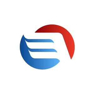 藍色紅色翅膀金融標志矢量logo圖標設計