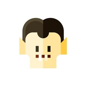 男人卡通头像矢量logo图标素材