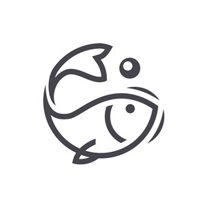 卡通可爱小鱼矢量logo图标素材