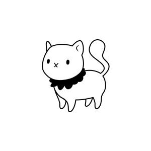 卡通可爱小猫Logo素材设计