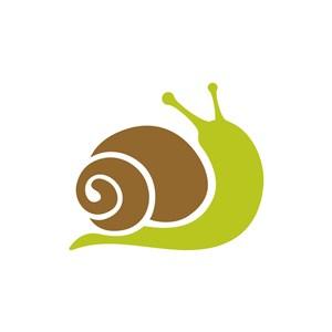 卡通蜗牛矢量LOGO素材