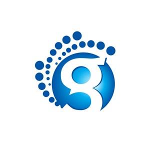 创意蓝色球状字母g矢量logo图标
