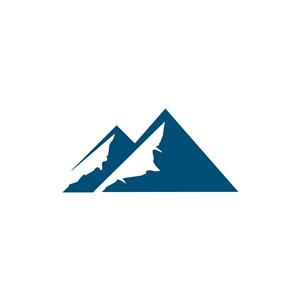蓝色山峰矢量logo图标设计