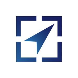网络地图logo设计-蓝色指标矢量logo图标素材下载