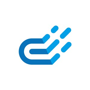 蓝色云矢量logo图标素材下载