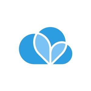 天气预报logo设计-蓝色云矢量logo图标素材下载