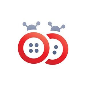 两只瓢虫卡通矢量logo图标素材下载