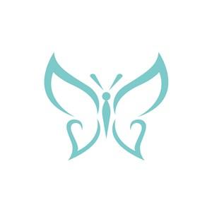 美容机构logo设计-绿色蝴蝶矢量logo图标素材下载