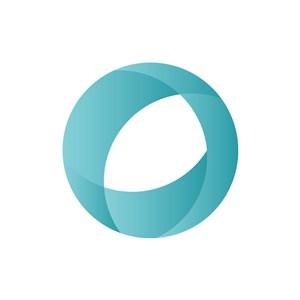 立体圆形蓝色渐变矢量logo图标素材下载