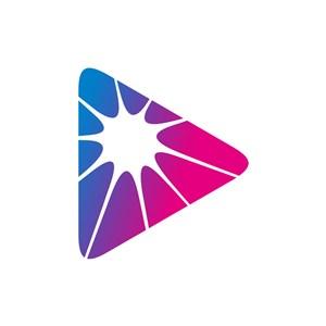 蓝色紫色三角形矢量logo图标素材下载